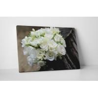 Fehér rózsacsokor