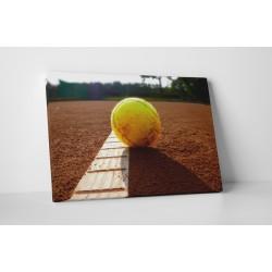 Teniszlabda a pályán