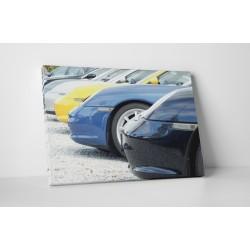 Porsche autók felsorakozva