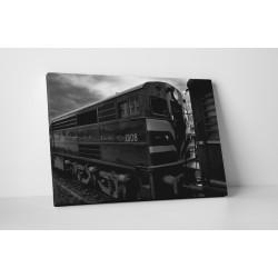 Fekete - fehér mozdony