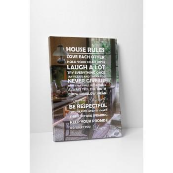House rules - 45x60 cm - AKCIÓ!