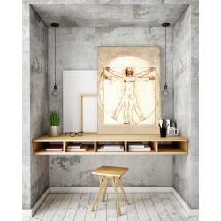 Vitruvián ember - 50x70 - Vászonkép