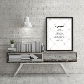A szeretet - 45x60 cm - Fekete díszkeretes vászonkép