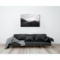 Hajnali erdő - 75x50 - Vászonkép