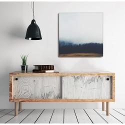 Fenyőerdő a ködben - 65x65 - Vászonkép