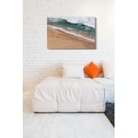 Lábnyomok a parton - 75x50 - Vászonkép