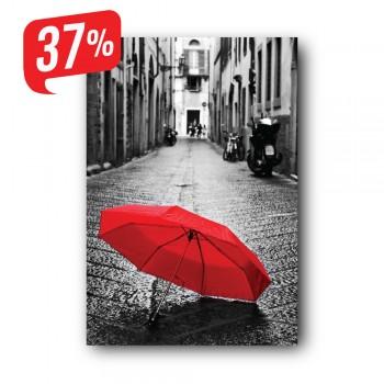 Piros esernyő - Vászonkép - 30x40 cm