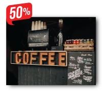 Kávé pult - Vászonkép - 45x60 cm