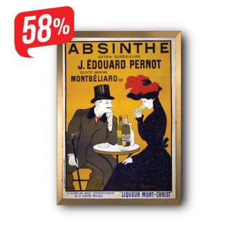Absinthe - Arany díszkeretes vászonkép - 35x50 cm