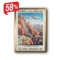 Peru of the Incas - Arany díszkeretes vászonkép - 35x50 cm