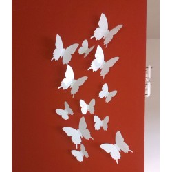 3D Fehér pillangó csomag