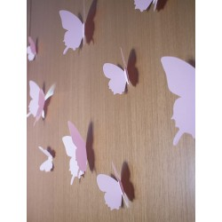 3D Rózsaszín pillangó csomag