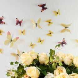 3D Élethű pillangó csomag - Sárga