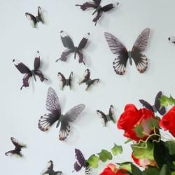 3D Élethű pillangó csomag - Fekete