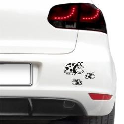 Autós matrica - Laza katicák