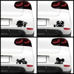 Autós matrica - Jópofa állat (csomag)