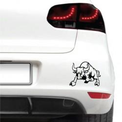 Autós matrica - Dühös bika