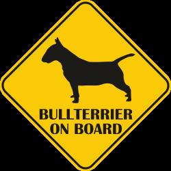 Autós matrica - Bullterrier
