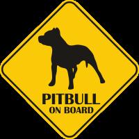 Autós matrica - Pitbull
