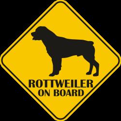Autós matrica - Rottweiler
