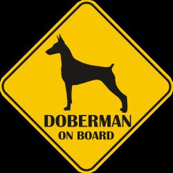 Autós matrica - Doberman