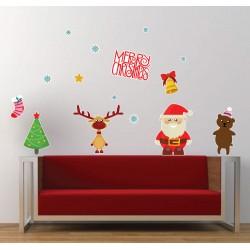 A Mikulás és Rudolf - Karácsonyi matrica csomag