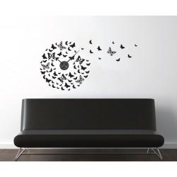Röpködő pillangók + falióra