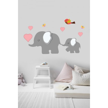 Elefánt család - Színes matrica csomag