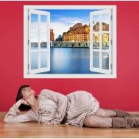 Elba sziget - 3D hatású ablakos matrica