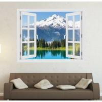 Washingtoni gleccser - 3D hatású ablakos matrica