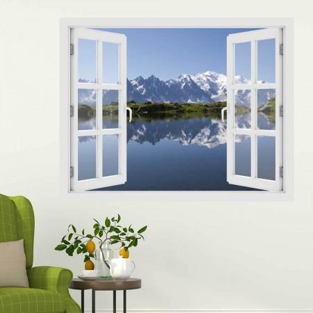 Mont Blanc -hegység - 3D hatású ablakos matrica