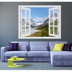 Altai-hegység, Oroszország - 3D hatású ablakos matrica