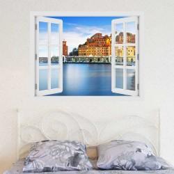 Montalcino, Toscana - 3D hatású ablakos matrica