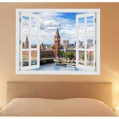 Westminster Bridge, London - 3D hatású ablakos matrica