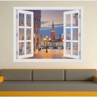 Szent Márk tér Velence  - 3D hatású ablakos matrica