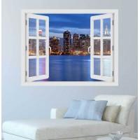 Manhattan Skyline - 3D hatású ablakos matrica