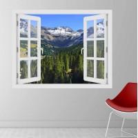 Colorado -hegység ősszel - 3D hatású ablakos matrica