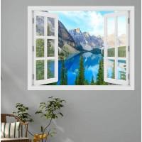 Moraine tó, Canada - 3D hatású ablakos matrica