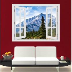 Alberta hegység, Canada - 3D hatású ablakos matrica