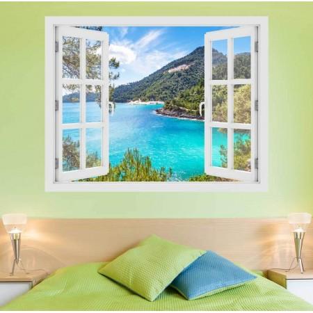 Thassos-sziget, Görögország - 3D hatású ablakos matrica