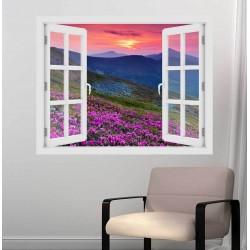 Rhododendron  - 3D hatású ablakos matrica