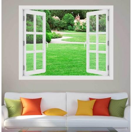 Mágikus kert - 3D hatású ablakos matrica