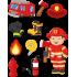 Tűzoltó - Színes matrica csomag